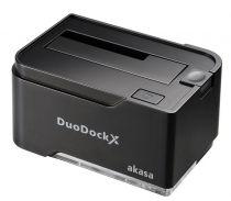 Akasa Duodock X Single Noir - AK-DK03U3-BK