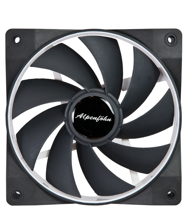Alpenföhn Ventilateur Wing Boost Plus PWM 120 mm Blanc