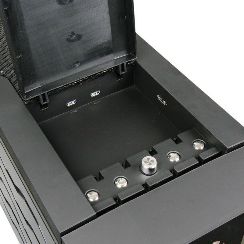 BITFENIX BOITIER PC COLOSSUS NOIR - FENÊTRE (LED ROUGE)