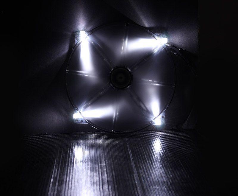 BITFENIX SPECTRE VENTILATEUR LED BLANC 230 mm NOIR