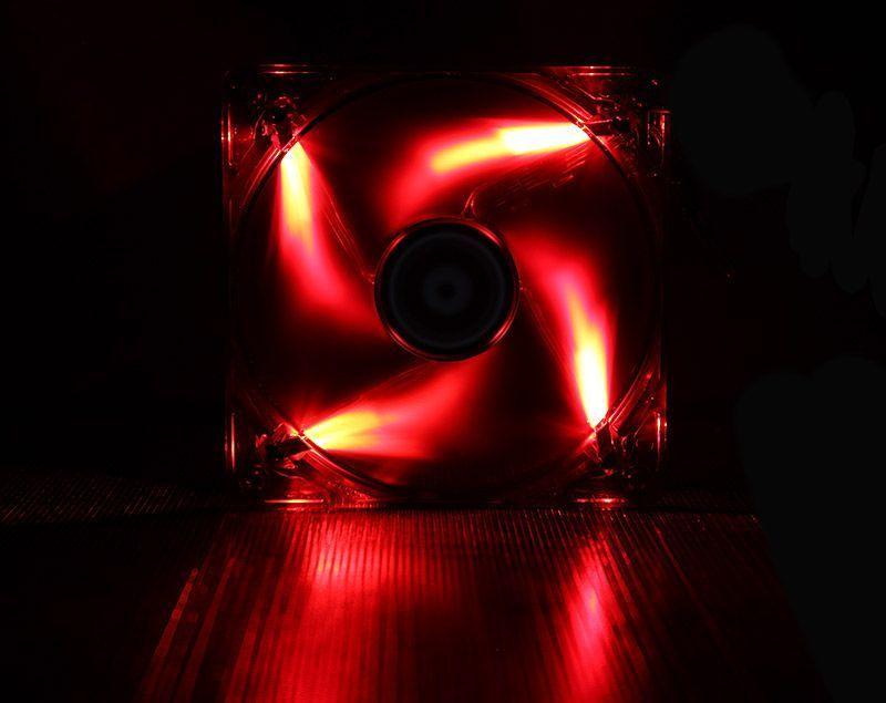 BITFENIX SPECTRE VENTILATEUR LED ROUGE 140 mm NOIR