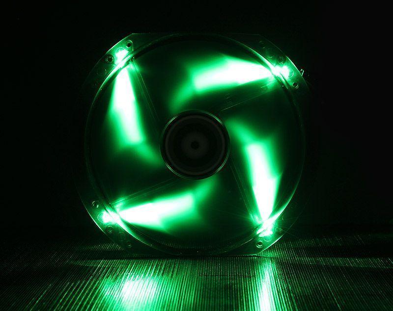 BITFENIX SPECTRE VENTILATEUR LED VERT 230 mm NOIR