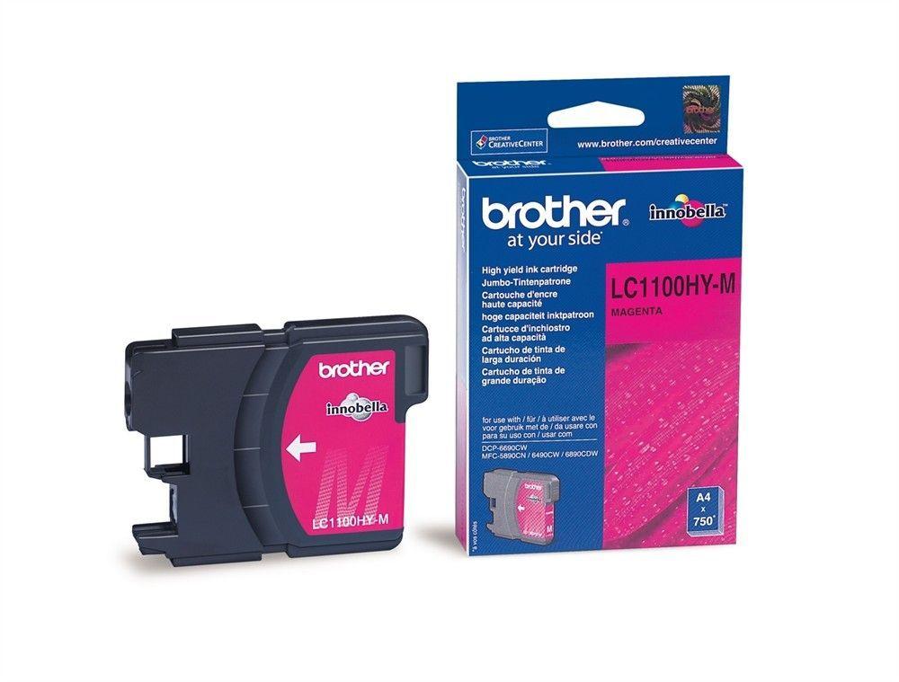 BROTHER - Cartouche haute capacité LC1100HYM Magenta
