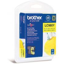 BROTHER - Cartouche LC980Y Jaune