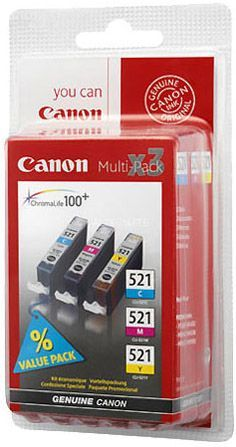 CANON Multipack 3 couleurs - CLI-521 C/M/Y
