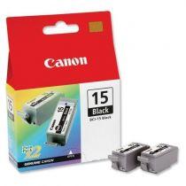 CANON Pack 2 cartouches - BCI-15BK Noir
