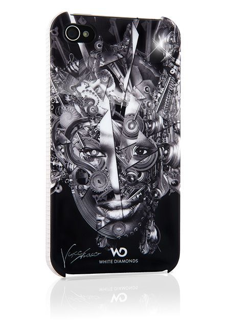 Coque de protection rigide The Mechanist White Diam\'s pour iphone 4/4s