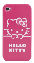Coque Hello Kitty semi-rigide rose pour iPhone 4/4S