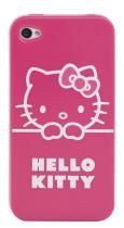 Coque Hello Kitty semi-rigide rose pour iPhone 4/4S