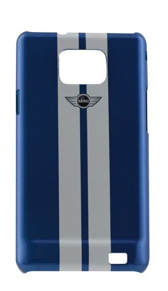 Coque Mini racing bleue/blanche Samsung Galaxy S2 I9101