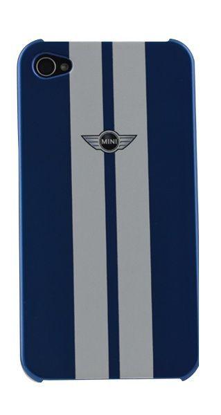 Coque Mini racing bleue et blanche iPhone 4/4S