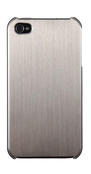 Coque Qdos effet acier brossé Titanium pour iPhone 4/4S