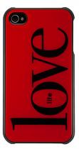 Coque rigide smoothies my life rouge iPhone 4/4S