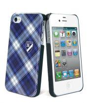 Cremieux - Coque arriére écossaise bleu pour iPhone 4 / 4S