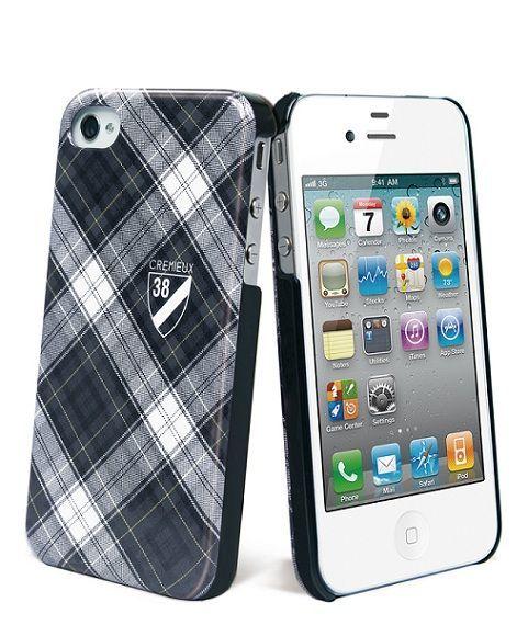 Cremieux - Coque arriére écossaise noire pour iPhone 4 / 4S