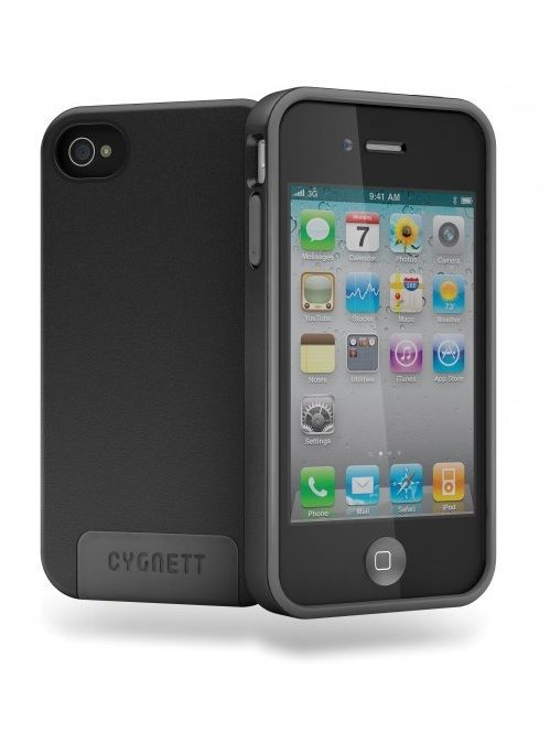 Cygnett Coque rigide Apollo Hybrid Noire iPhone 4/4S