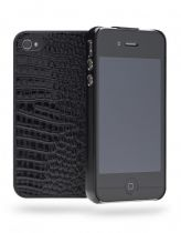Cygnett Coque rigide croco noire iPhone 4/4S