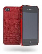 Cygnett Coque rigide croco rouge iPhone 4/4S