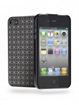 Cygnett Deco Coque rigide noire iPhone 4/4S