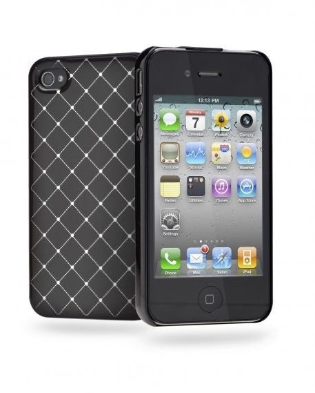 Cygnett Deco Diamant Coque rigide noire iPhone 4/4S