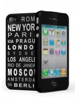 Cygnett Travel Coque rigide noire iPhone 4/4S