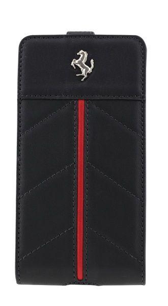 Etui coque Ferrari California en cuir noir Samsung Galaxy S2 I9100
