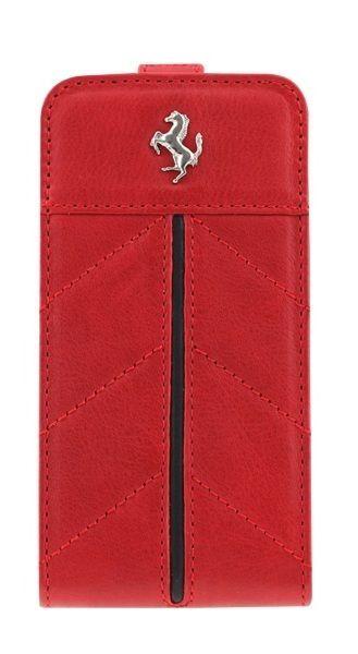 Etui coque Ferrari California en cuir rouge Samsung Galaxy S2 I9101