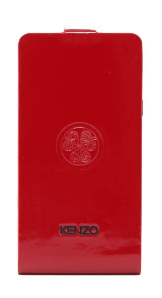 Etui coque Kenzo rouge glossy motif trèfle Samsung Galaxy S2 I9101