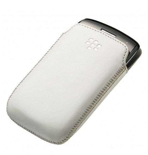 Etui cuir Blanc Blackberry Curve 9380