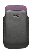 Etui cuir Noir / Violet Blackberry 9790 Bold