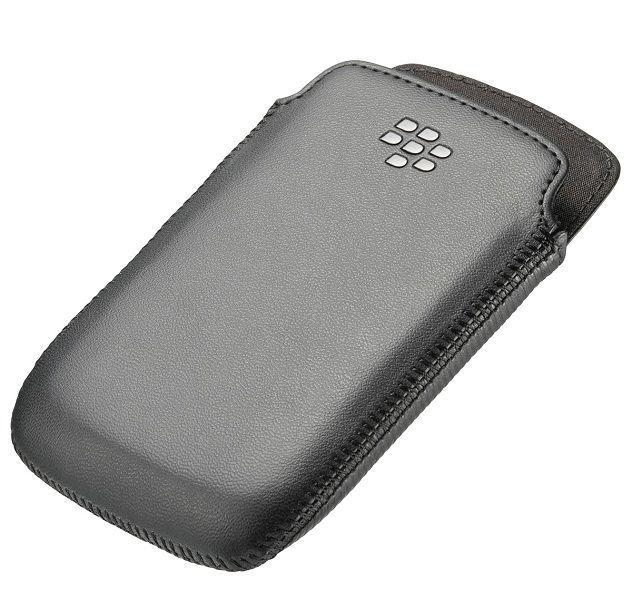 Etui cuir noir Blackberry Curve 9380