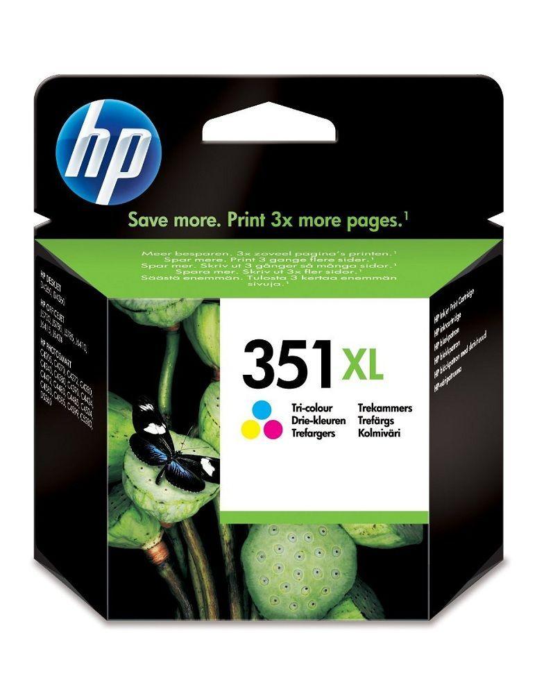 HP N°351XL - CB338EE - Cartouche 3 couleurs Haute capacité