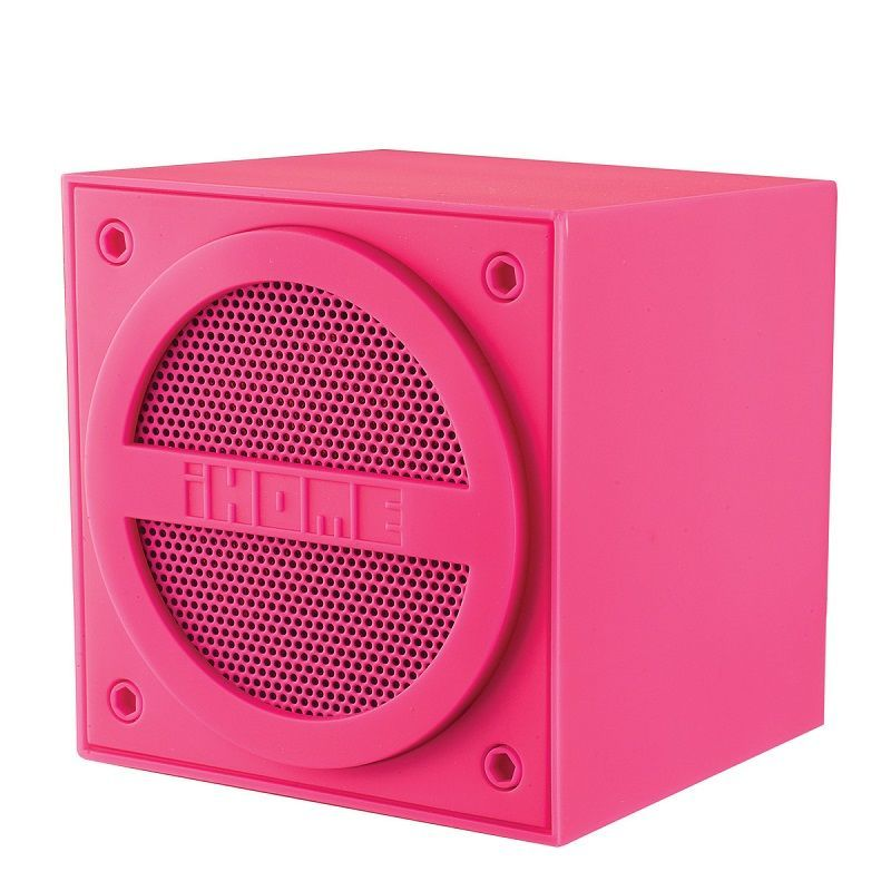 iHome iBT16 Enceinte nomade bluetooth cube Pink