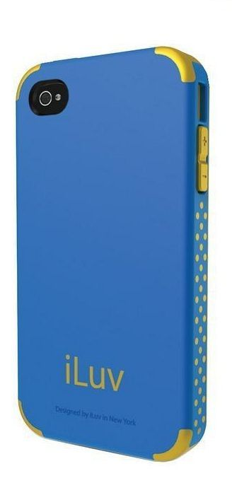 iLuv Coque rigide bleu Regatta dual layer iPhone 4/4S