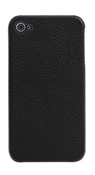 Modelabs Coque rigide cuir noir iPhone 4/4S