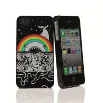 MUVIT - Coque Doodie Rainbow glossy pour iPhone 4/4S