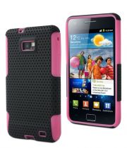 MUVIT - Coque Duo Pro Noire/Rose pour Samsung Galaxy SII
