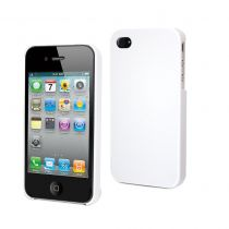 MUVIT - Coque glossy blanche pour iphone 4/4s