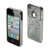 MUVIT - Coque miroir argent motif transparent pour iPhone 4/4S
