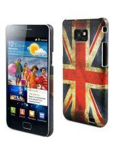 MUVIT - Coque Rigide drapeau UK vieilli pour Samsung Galaxy SII