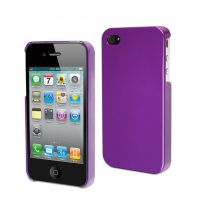 MUVIT - Coque rigide glossy mauve pour iPhone 4/4S