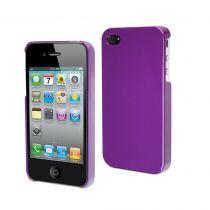 MUVIT - Coque rigide glossy mauve pour iPhone 4/4S