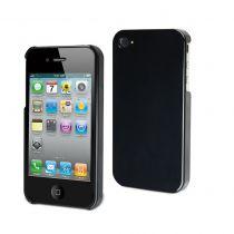 MUVIT - Coque rigide glossy noire pour iphone 4/4s