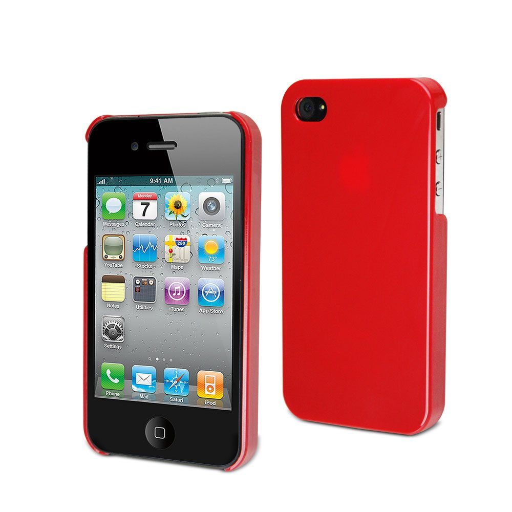 MUVIT - Coque rigide glossy rouge pour iphone 4/4s