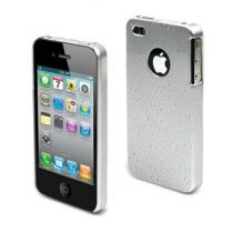 MUVIT - Coque rigide grise gouttes d'eau pour iphone 4/4s