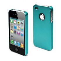 MUVIT - Coque rigide rubber metal turquoise pour iphone 4/4s