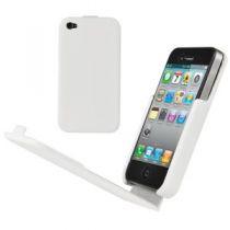 MUVIT - Housse clapet Snowclip blanche pour iPhone 4/4S
