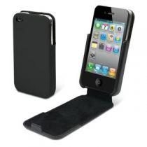 MUVIT - Housse clapet Snowclip noire pour iPhone 4/4S