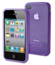 MUVIT - Housse silicone Flexy ondes couleur lavande pour iPhone 4/4S