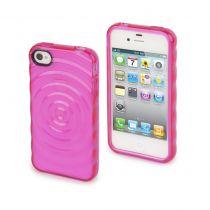 MUVIT - Housse silicone Rose effet goutte d\'eau pour iPhone 4/4S